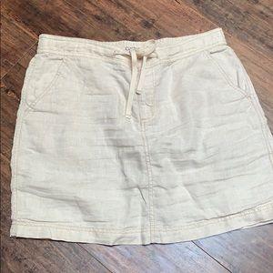 Caslon linen skirt with pockets M